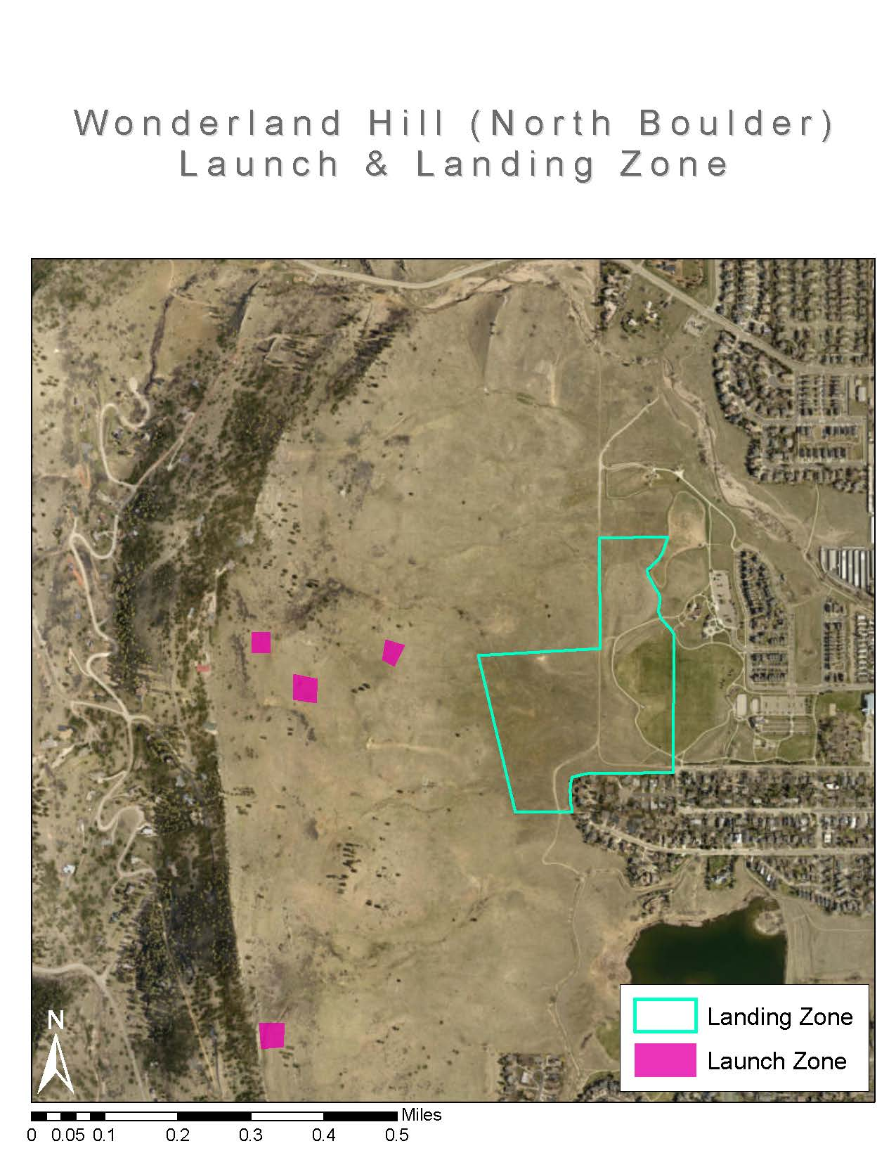 North Boulder Landing Zones
